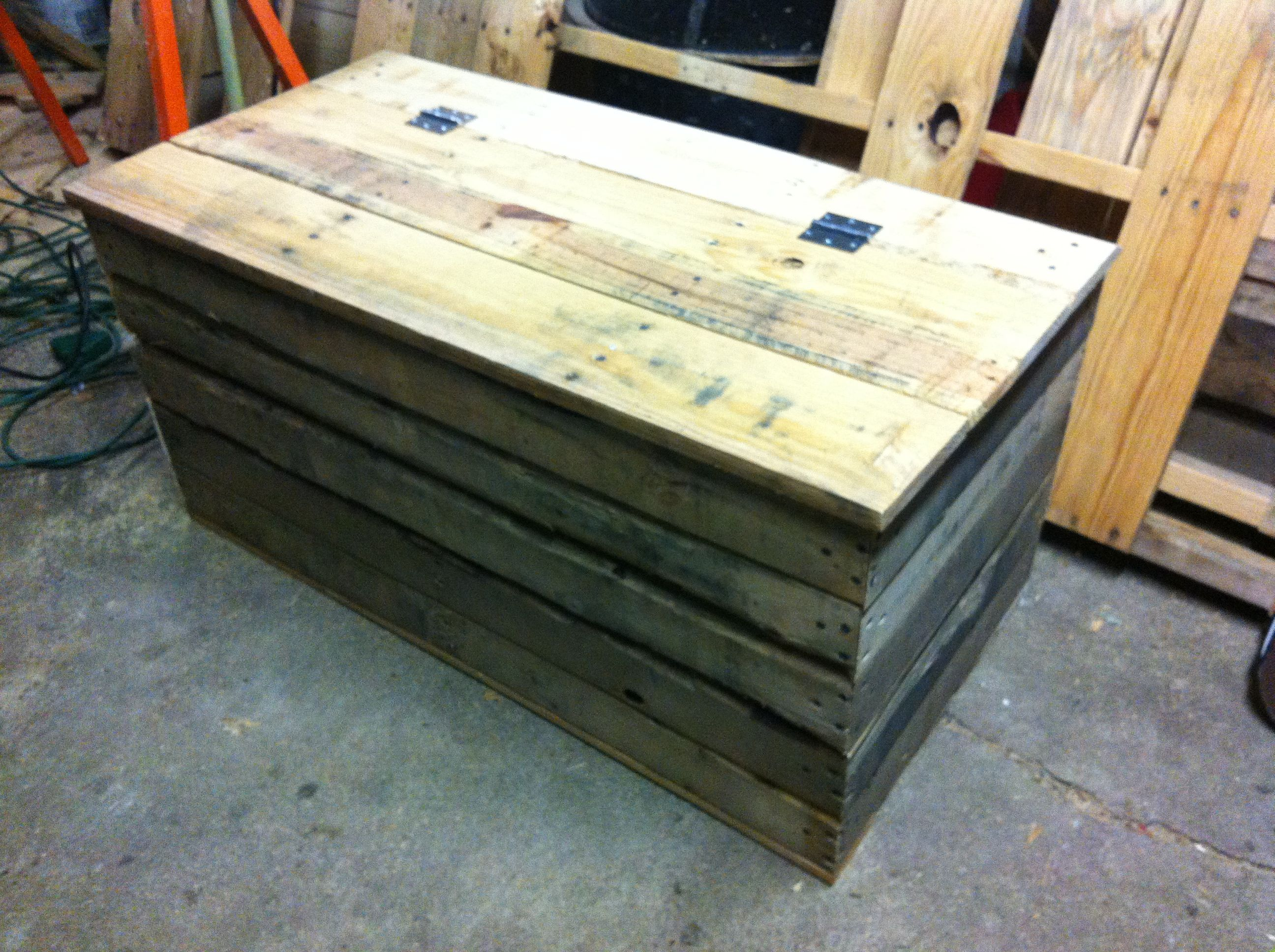 Coffee table chest made from skids im handy man pinterest coffee table chest made from skids geotapseo Gallery