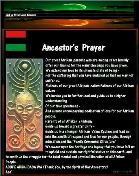 Prayer to our ancestors | Blackness | Sunset wallpaper, Prayers, Ifa