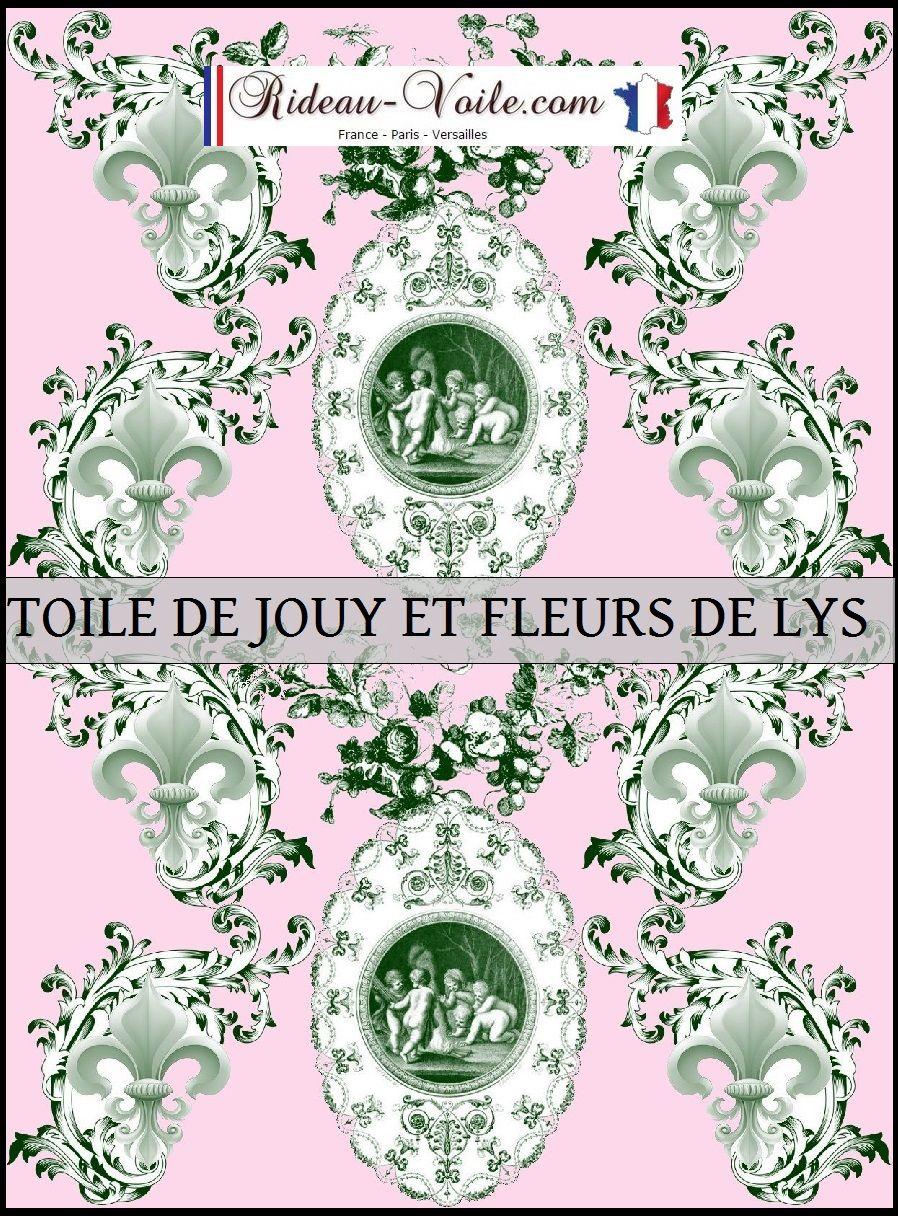 Chambre Baroque Noir Et Violet fleur de lys et anges toile de jouy vert rose empire baroque