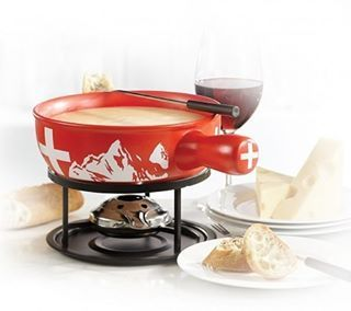 Fondue is the perfect party dish! The set is easy to use and was designed in ceramic in the Swiss tradition. #thinkkitchenme #homemade #cooking #foodstagram#instapic #kitchenware #kitchen #kitcheninspiration #kitcheninspo #culinary #cookware#kitchentools  Yummery - best recipes. Follow Us! #kitchentools #kitchen