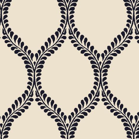 leaves_Warm_Blue fabric by tullia on Spoonflower - custom fabric