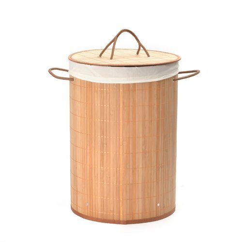 Bamboo Laundry Basket With Liner Wayfair Basics Colour Natural In