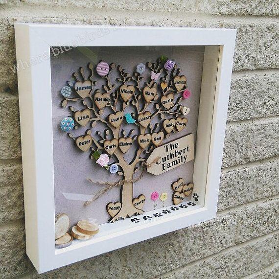 Enmarcado de cuadro del árbol genealógico por bluebirdsflygifts ...