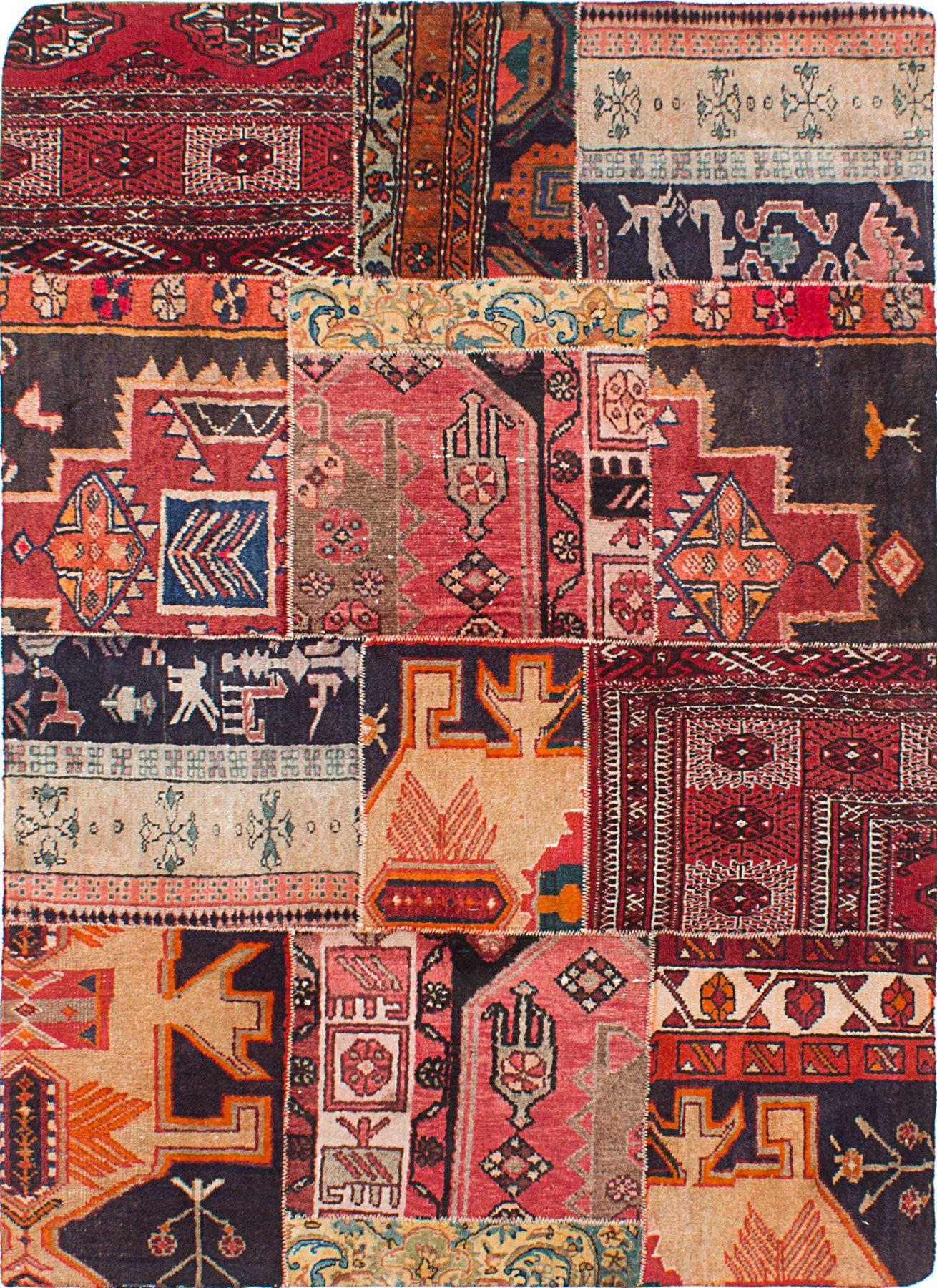 Hand Knotted Persian Rugs Overdyed Or Teawashed Distressed And Antiqued Vintage Persian Rug Rugs Persian Rug