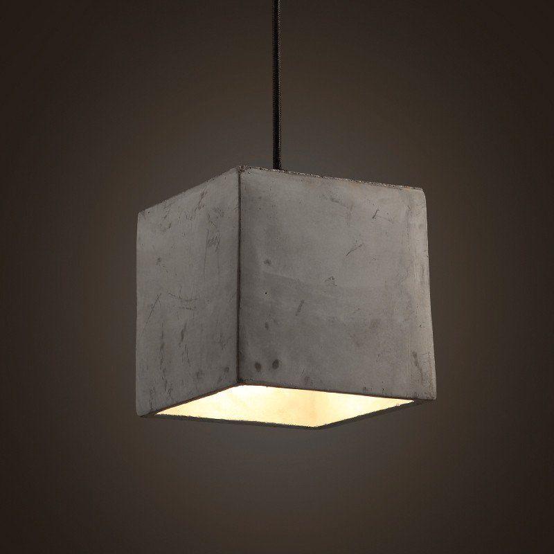 Concrete odense cube pendant light odense pendant lighting and concrete odense cube pendant light beton ceiling light cement aloadofball Choice Image
