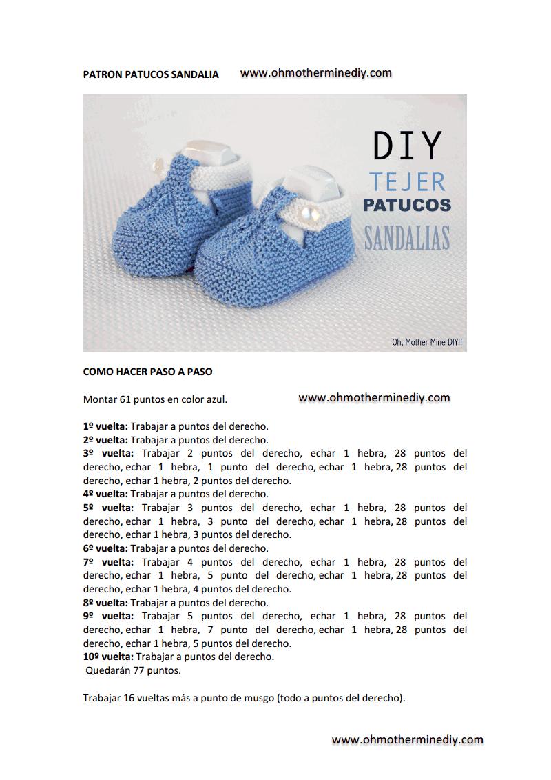 patron completo patuco sandalia.pdf | örnek | Pinterest | Filing