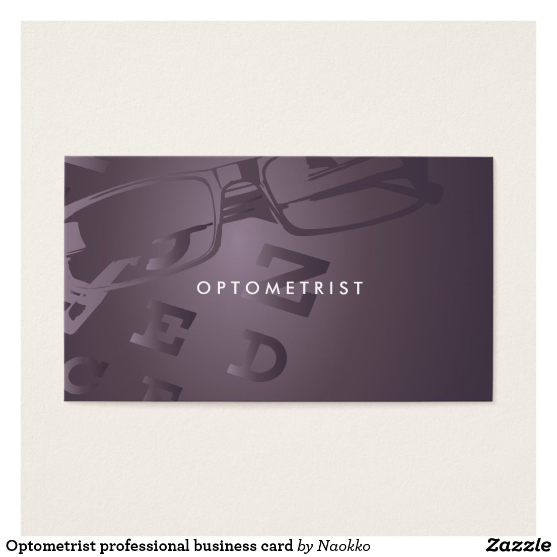 Optometrist professional business card Custom Check out more ...
