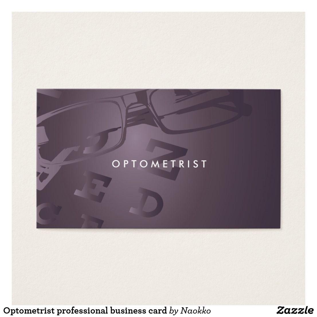 Optometrist business card | Pinterest