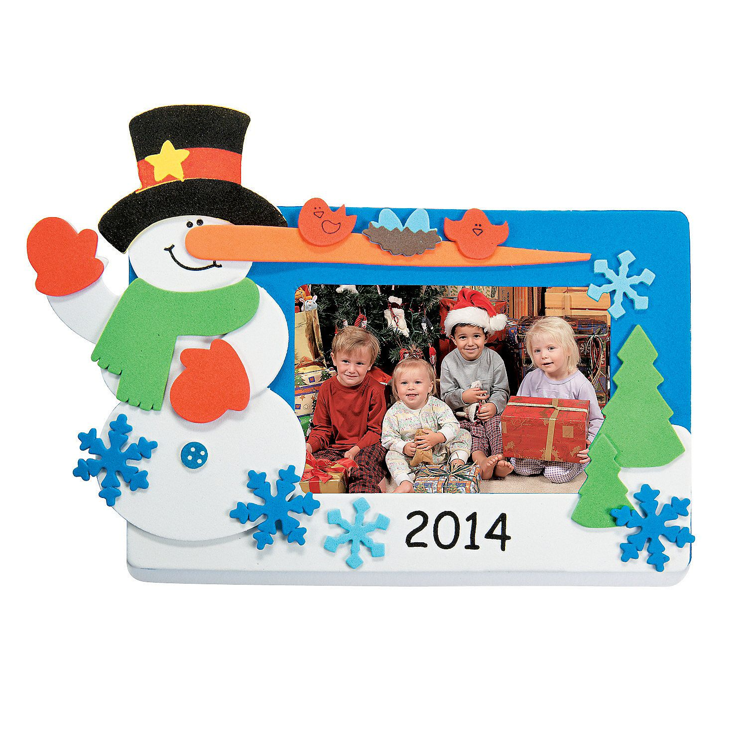 Snowman Picture Frame Magnet Craft Kit