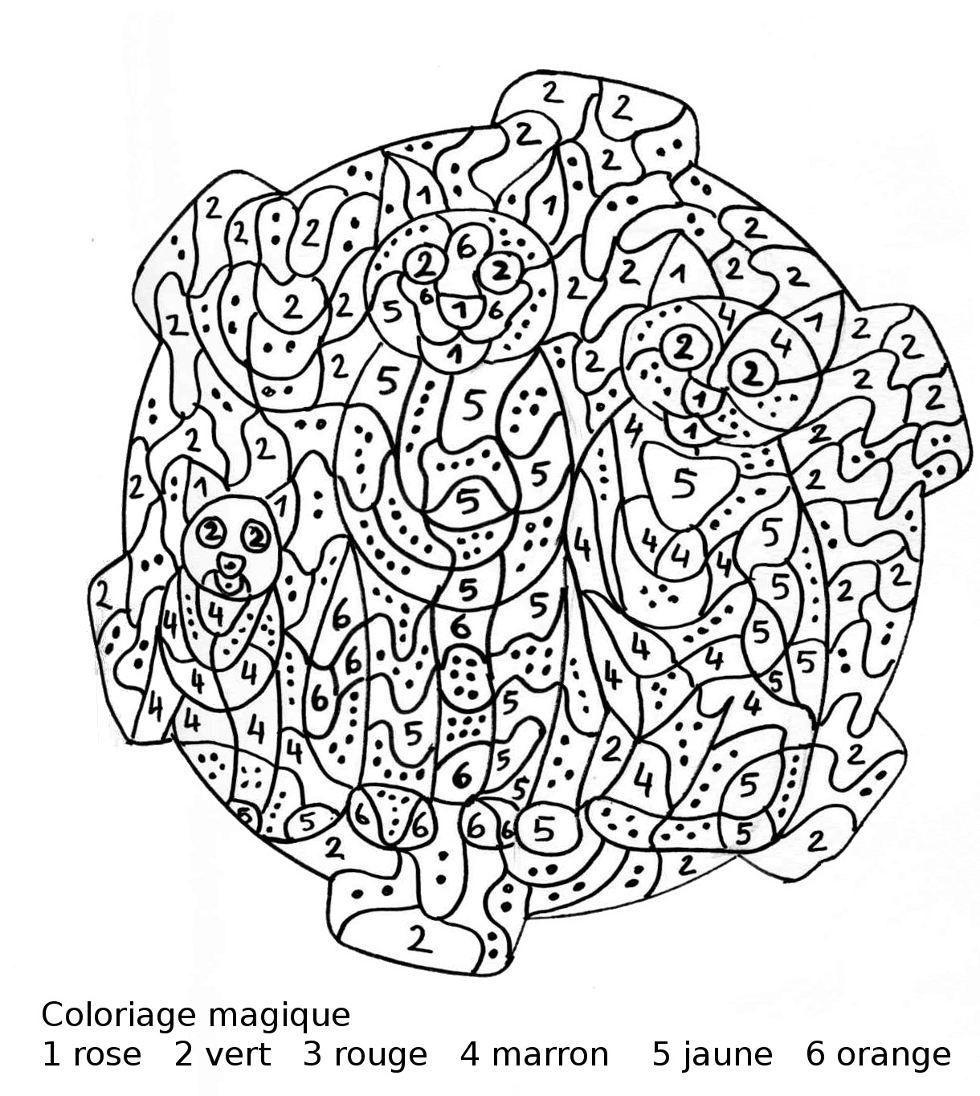 Coloriage Magique Ce1 à colorier - Dessin à imprimer ...