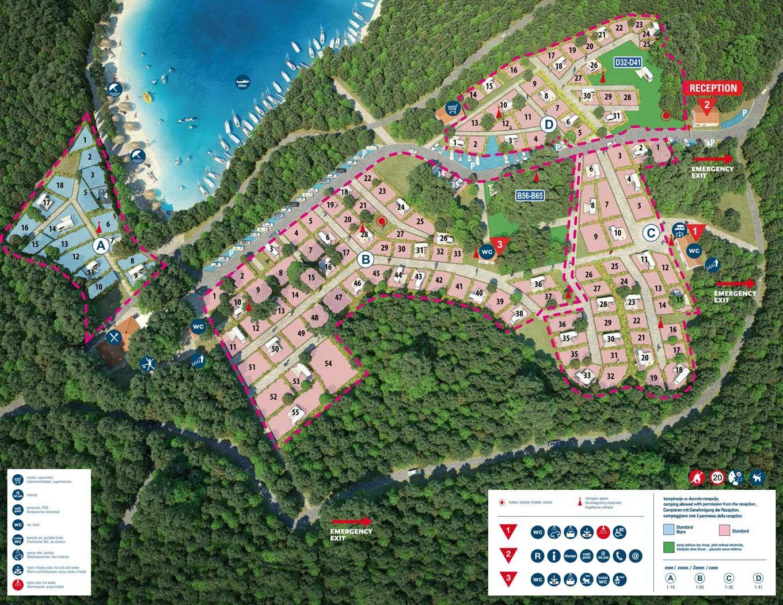 Campingplatz Tunarica Sunny Camping Campingverband Kroatien