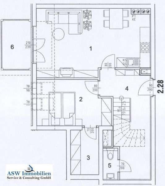Wohnungsplan unten