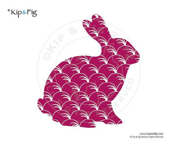 Bunny rabbit sitting applique template pdf applique by KipandFig ...