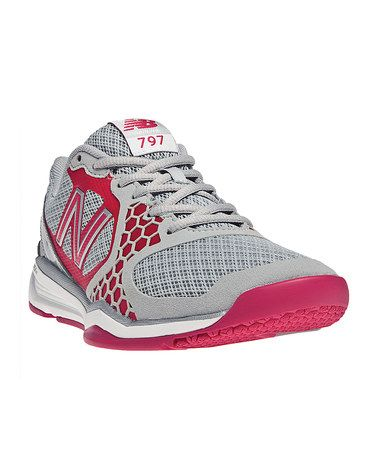Take a look at this Silver & Diva Pink 797 Cross-Training Shoe - Women by New Balance on #zulily today!