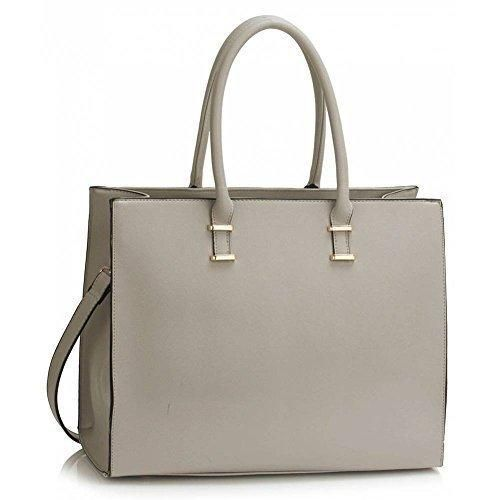 0cb77d0b17f Womens Fashion Tote Shoulder Bags Ladies Large Designer Faux Leather New  Handbag