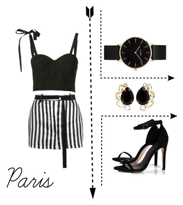 """""""París."""" by nola-faria ❤ liked on Polyvore featuring Boohoo, Rosie Assoulin, CLUSE, Ann Demeulemeester, Bounkit and modern"""
