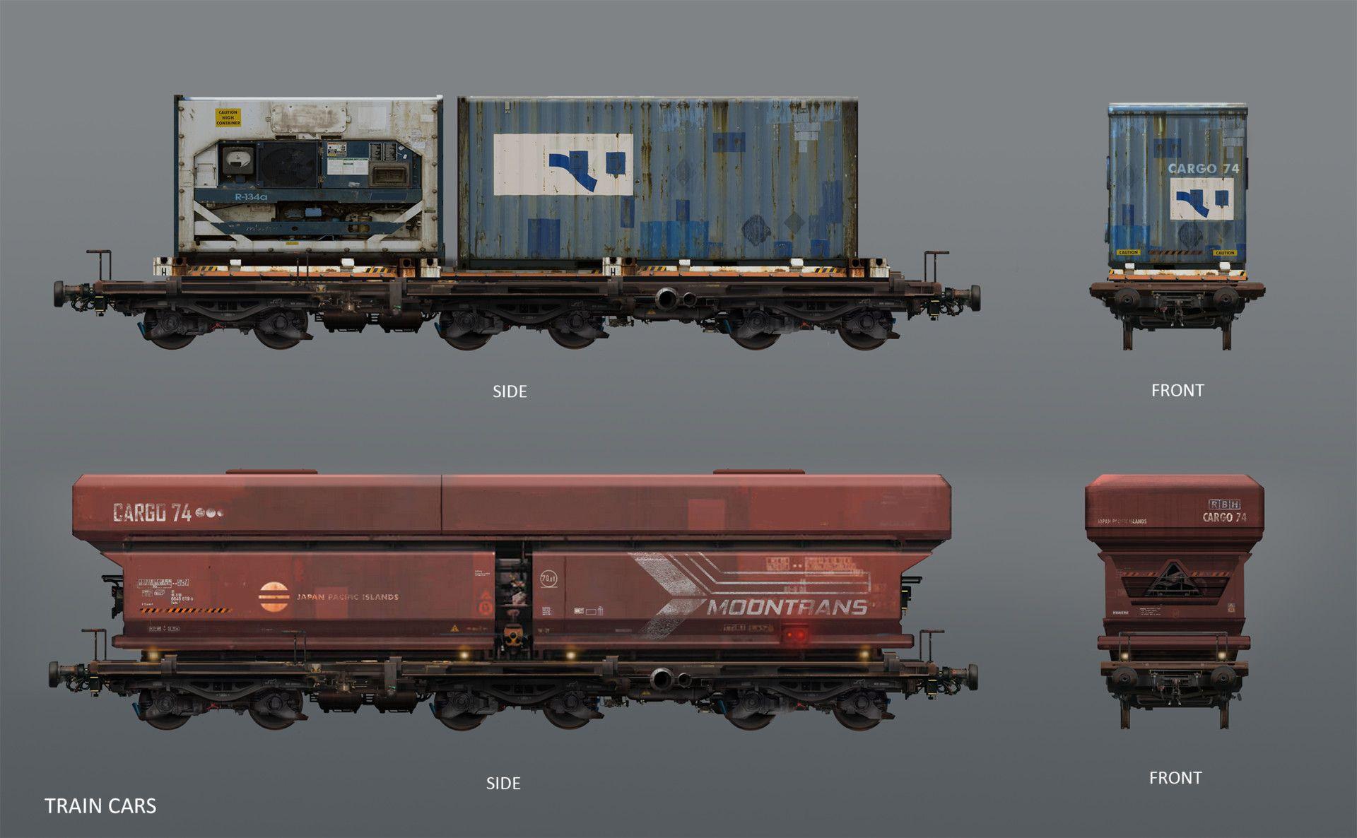Artstation Moontrans Train Cars Explorations Egor Kudashkin Train Car Train Model Trains