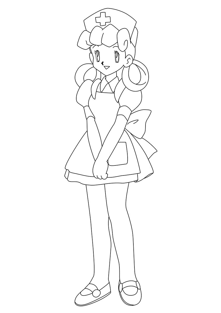 Nurse Joy | Pokemon coloring pages, Coloring pages ...