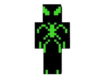 скины для майнкрафт черный человек паук #7