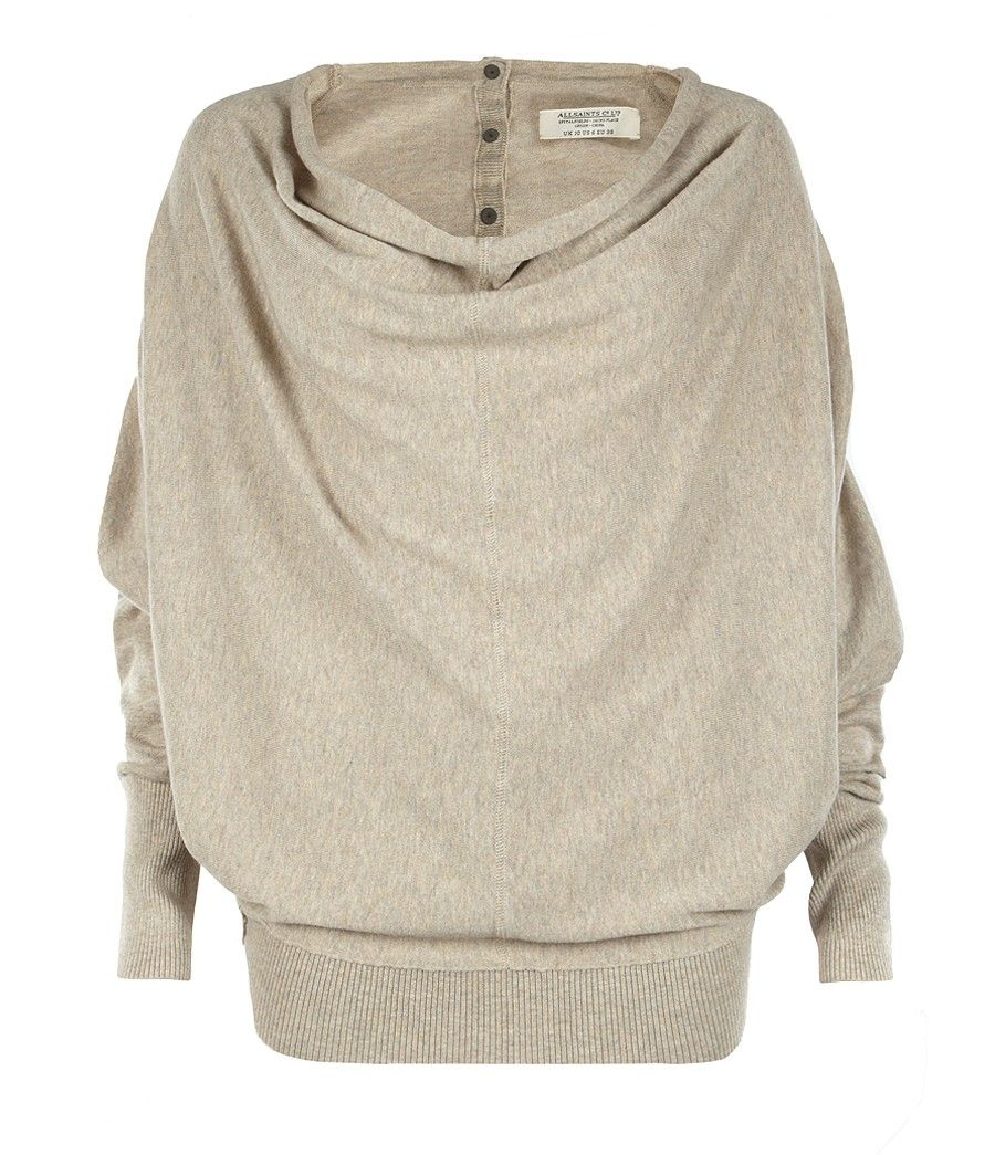 Elgar Cowl Neck Sweater, Women, Sweaters, AllSaints Spitalfields ...