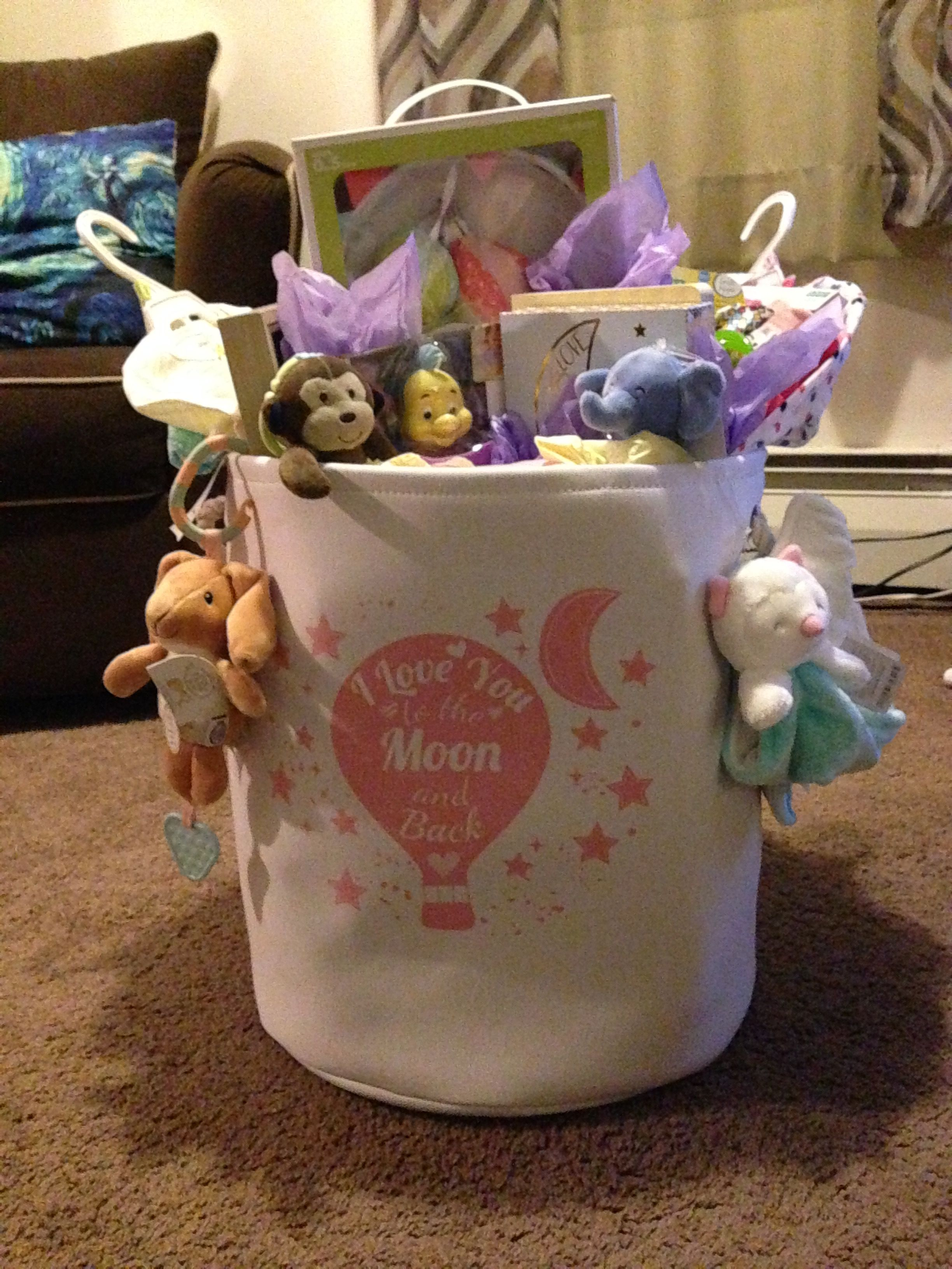 Baby basket i made for a friend baby baskets gifts basket