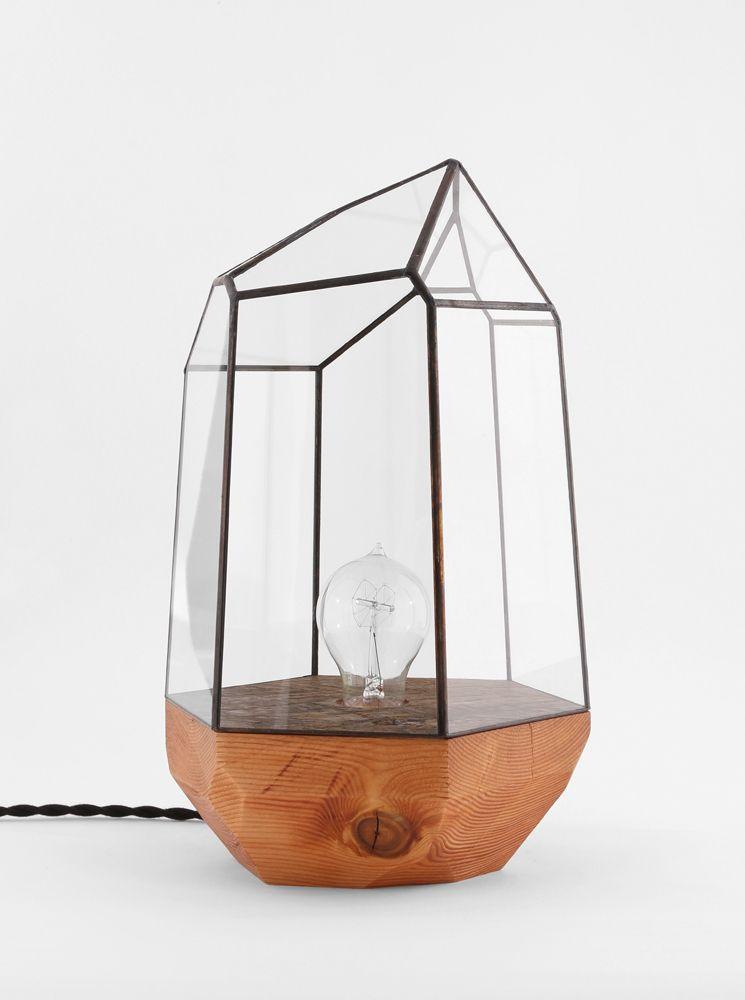 Wood base geometric lamps se ver a re chulo en casa for Muebles industriales metal baratos