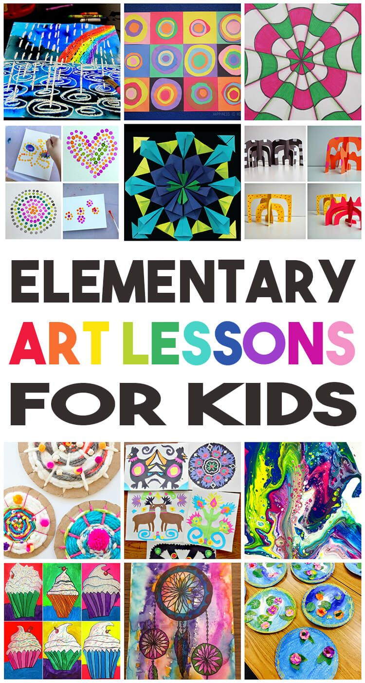 36 Elementary Art Lessons for Kids one for every week of the
