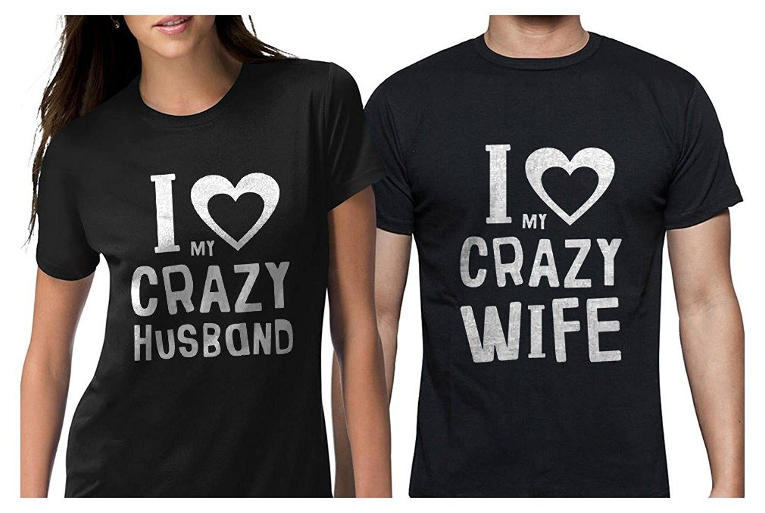 b2df3f55 Funny Husband & Wife Couples Gift Anniversary/Newlywed Matching Set T-Shirts  - Man Black / Woman Black - CX189SROL37,Men's Clothing, T-Shirts & Tanks,  ...