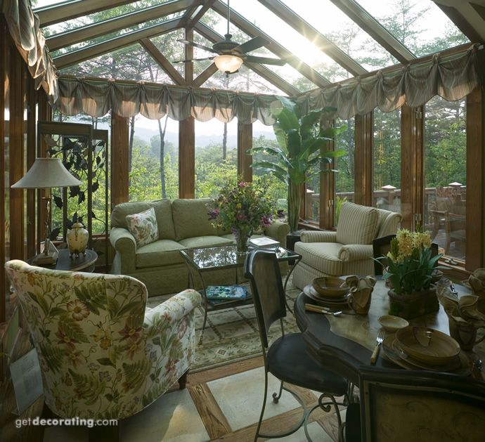 Conservatory Made Of Big Skylights Together Double Glass