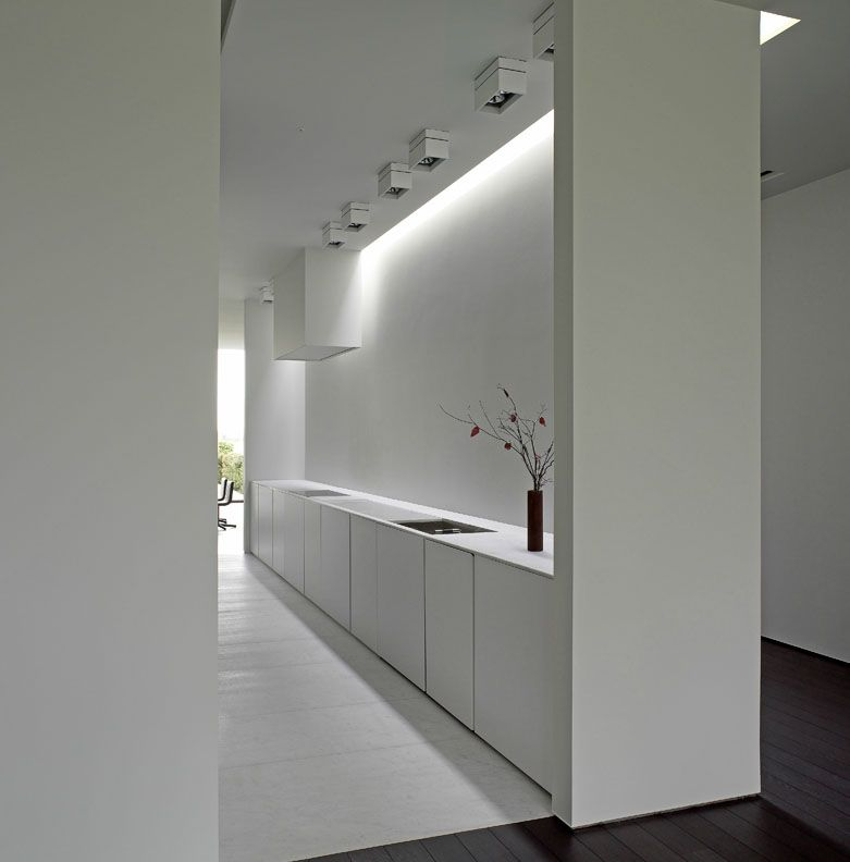 Best All White Kitchen With Clean And Pure Lines By Belgian 400 x 300