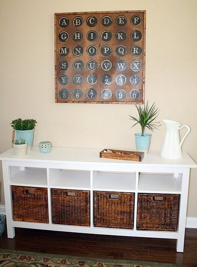Definitely Darker Baskets For Console Ikea Basket Home Decor Home Decor Inspiration