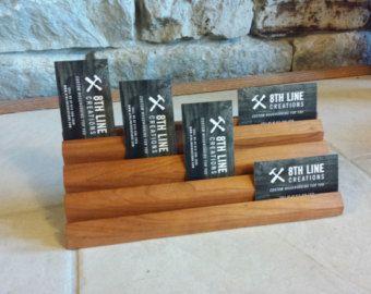 Multiple Business Card Holder Gift Card by 8thLineCreations drevo