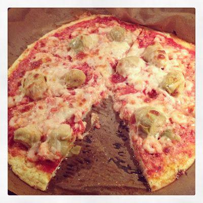 Leuhkat eväät: Pizzapohja kukkakaalista, nams!