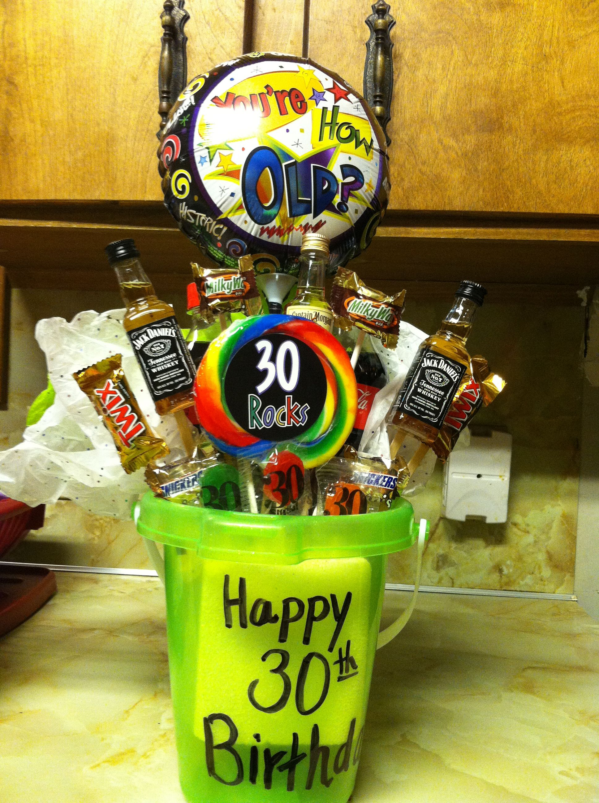 30th Birthday Gift Bucket For My Brother