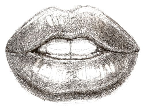 How to draw lips step by step with pencil learn to draw for How to draw cute lips