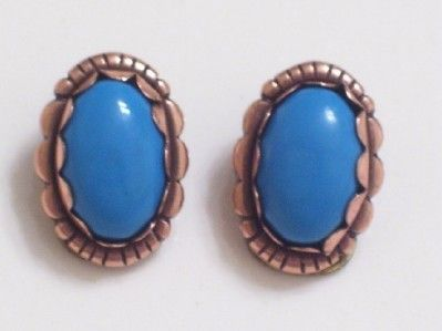 Vintage Copper Faux Turquoise Southwestern Clip by TheCopperCat, $10.00