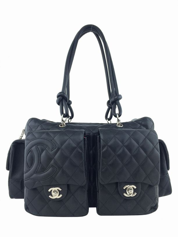 Consigned Designs Chanel Handbags Black Ligne Cambon Quilted