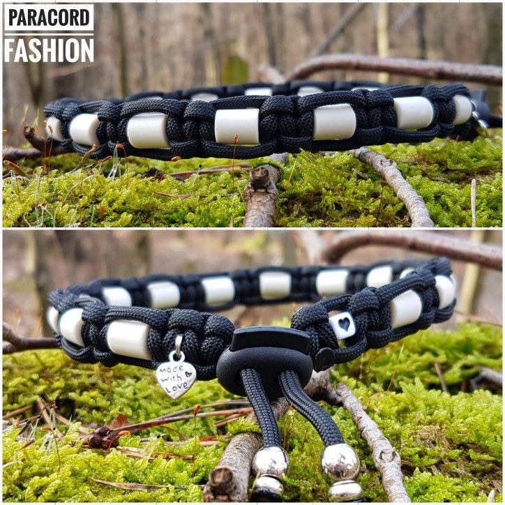 Schmuckhalsband Mit Em Keramik Pipes Paracord Hundehalsband Collar Dogs Hunde Emkeramik Paws Paracord Halsband Halsbanden