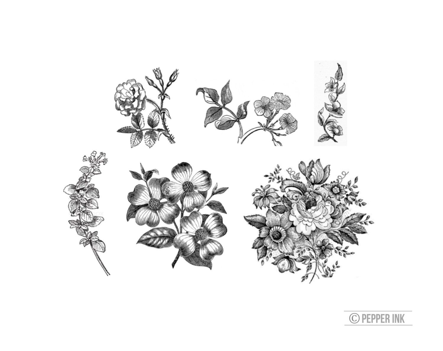 Httpsimg0systatic04706786811ilfullxfull vintage black and white floral 6 temporary tattoos victorian illustration mightylinksfo Image collections