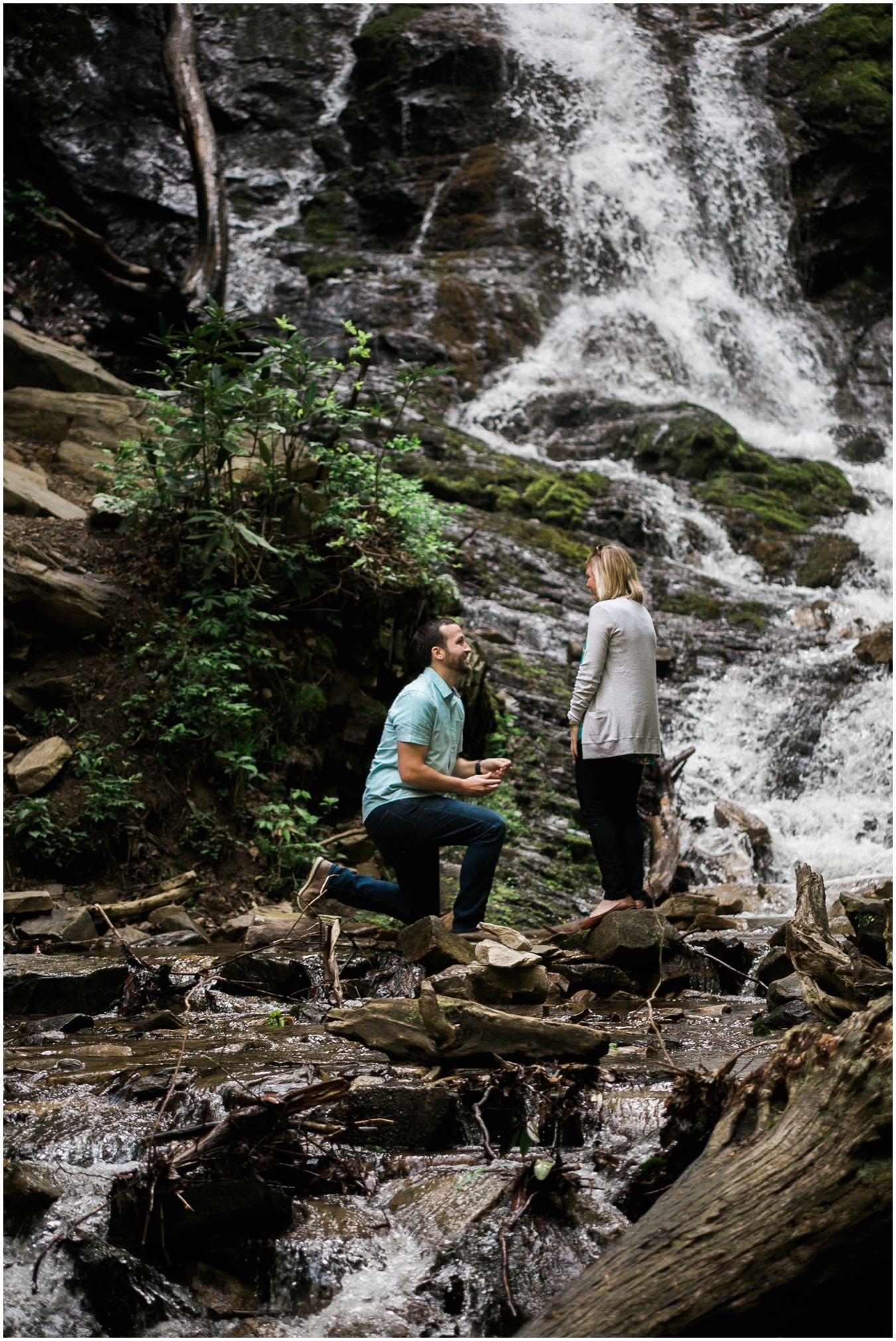 epic waterfall proposal epic engagements pinterest asheville