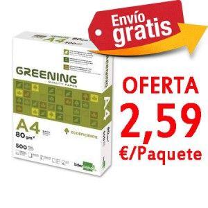 Papel A4 Liderpapel Greening De 80 Grs Lote De 10 Cajas