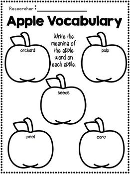 Apples & Johnny Appleseed Writing