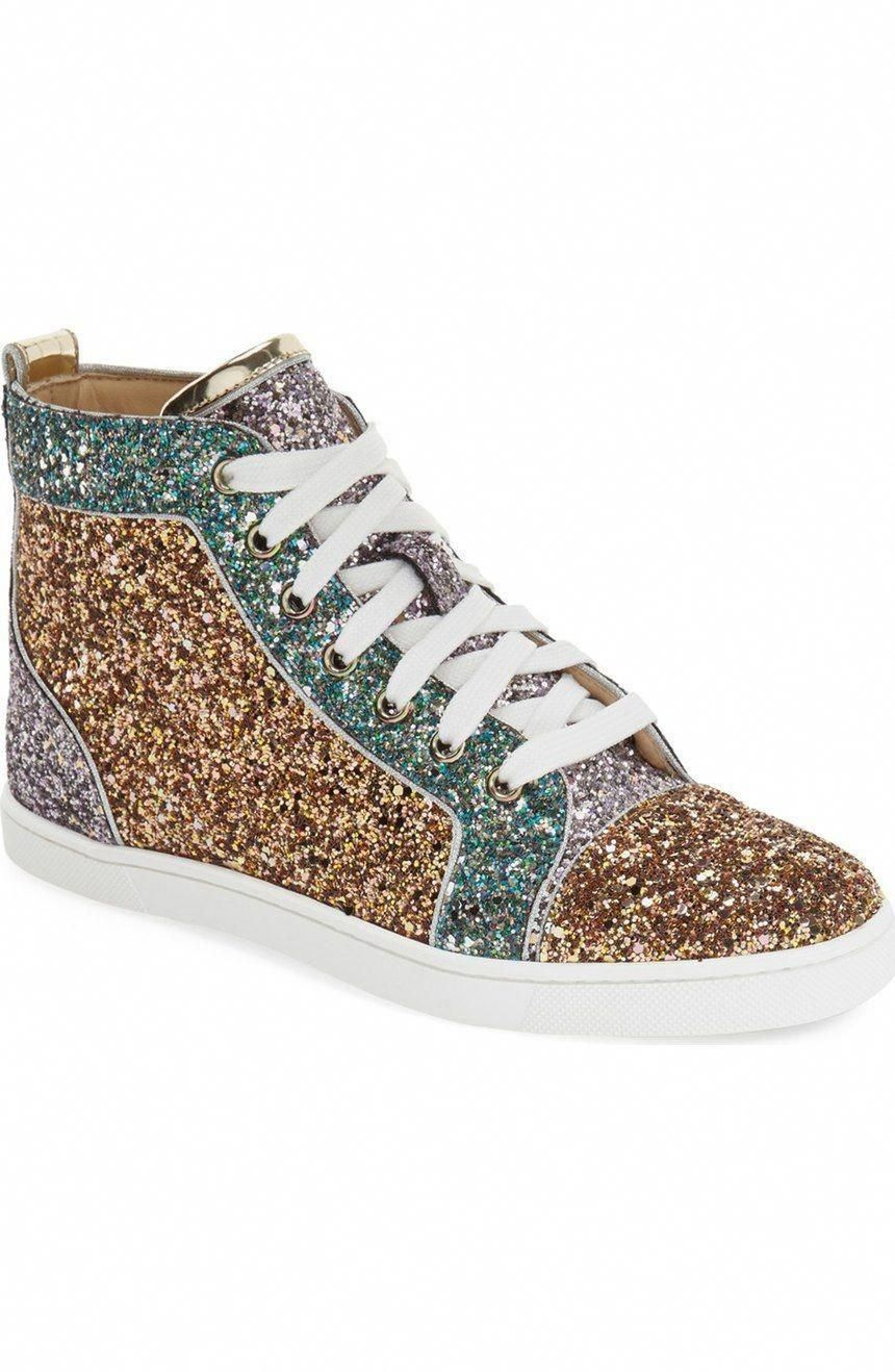the latest d0066 4485f Stealing the scene with these Christian Louboutin sneakers ...