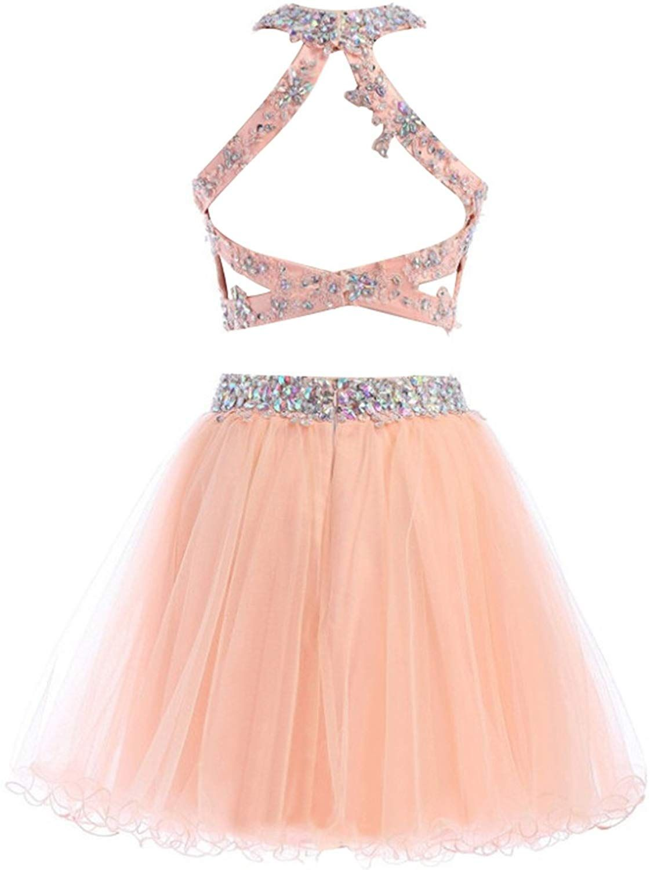 Dresstells reg short prom dress scoop two pieces homecoming