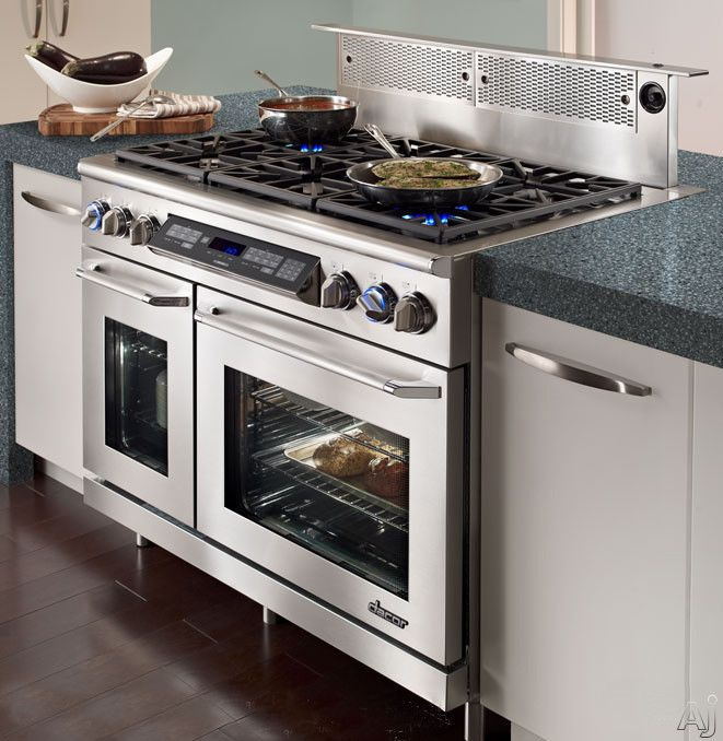 Dacor Er48d 48 Freestanding Dual Fuel Range With 4 6 Cu Ft Primary Oven Capacity 3 500 W Broil Element 6 Sealed Kitchen Design Luxury Kitchen Design Dacor