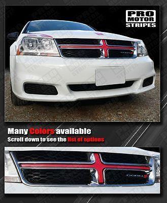 Dodge Avenger Front Grille Cross Insert Stripe 2008 2009 2010 2011 2012 2013 Dodge Avenger Dodge Car Vinyl Graphics