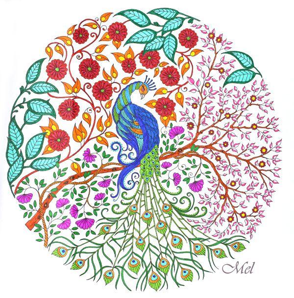 2 Dessins Coloriés De Jardin Secret De Johanna Basford