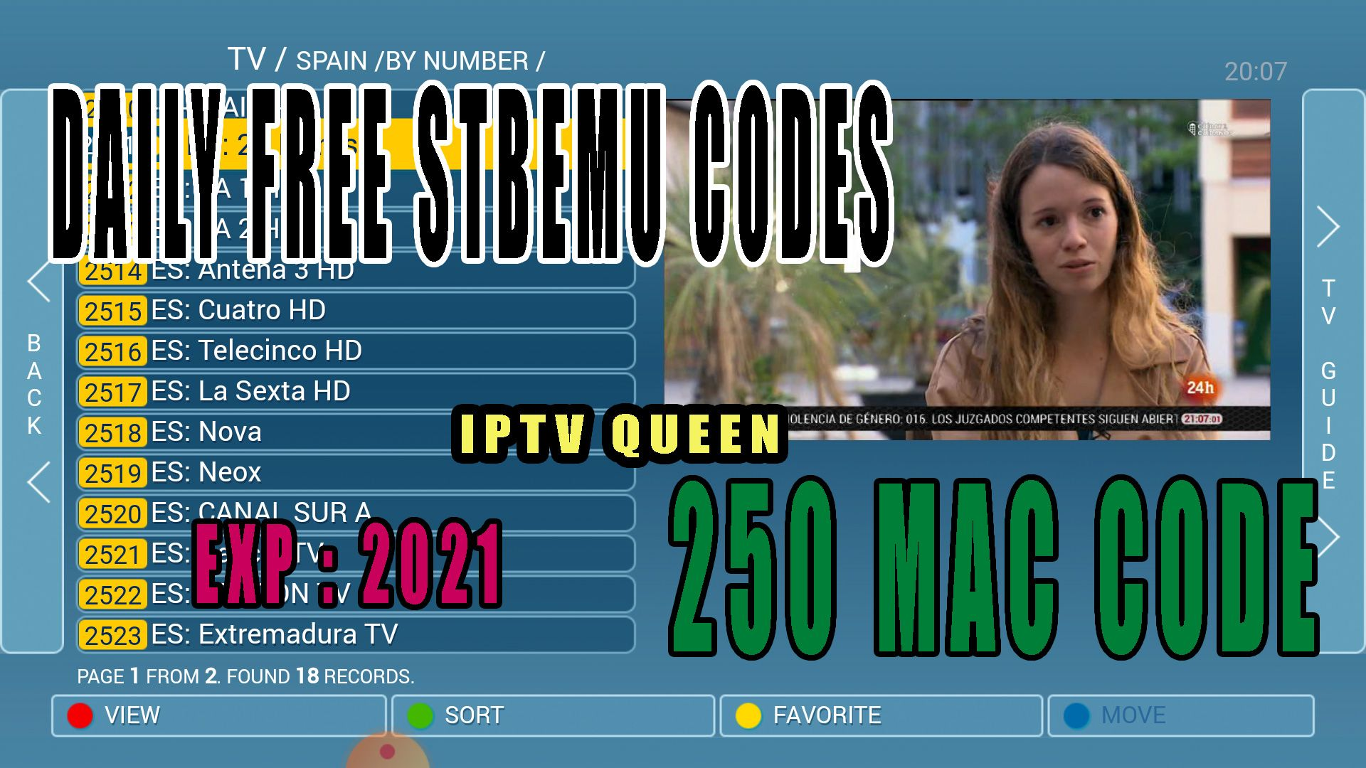FREE STBEMU CODES - STB EMULATOR PRO EXP : 2021 in 2020 | Coding, Smart tv,  Free