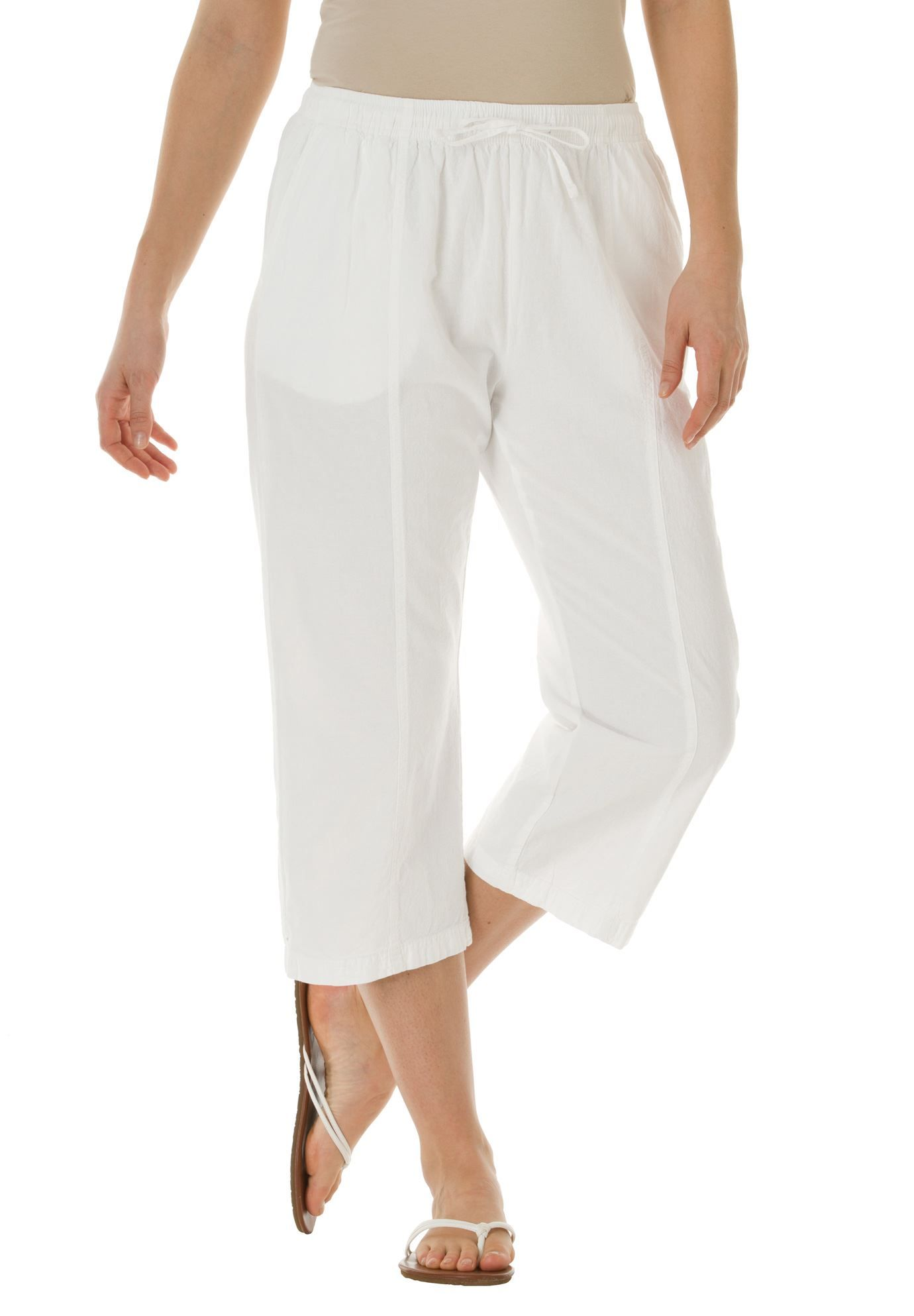 Plus size cotton capris that are comfy, casual and great for mild ...