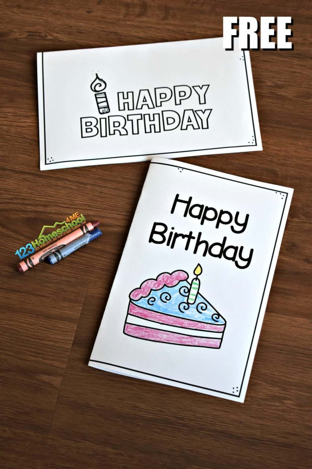 Free Printable Birthday Cards Free Printable Birthday Cards Free Birthday Card Birthday Cards To Print